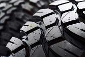 Macro de pneu preto