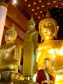 Three Buddha Images