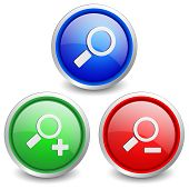 Set of 3 popular buttons - search