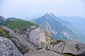 Great rock at mountaintop at china