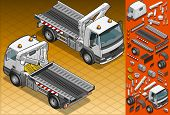 Isometric Tow Truck In Two Position