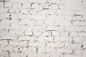 Brick white wall