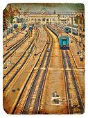 Old Postcard. Old Railway Station.