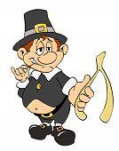 Thanksgiving Pilgrim with Wishbone