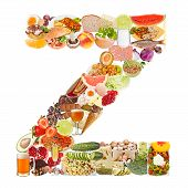 Letter Z Made Of Food
