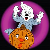 image of casper  - Illustration for events of different kinds expecially halloween - JPG
