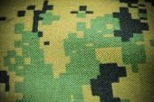 detail of digital camo fabric