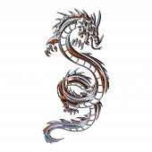 Illustration Of A Mythical Dragon