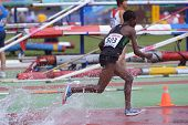 DONETSK, UKRAINE - JULY 12: Rosefline Chepngetich of Kenya competes in 2000 m steeplechase during 8t