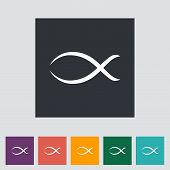 Fisch einzelnes Symbol.