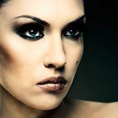 Adult Pretty Woman Stylish Portrait