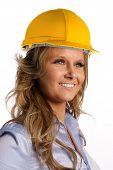 Female Architect With Helmet