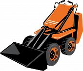 pic of skid-steer  - Vector illustration of a Compact skid steer isolated on white background - JPG