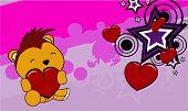 porcupine baby cartoon valentine background
