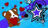hamster baby valentine background