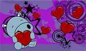 hippo baby cute valentine background