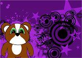 hamster baby cute cartoon background