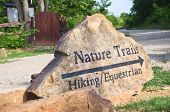 Nature trails marker