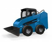 stock photo of skid-steer  - Skid Steer Loader isolated on white background - JPG