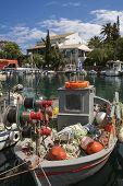 Fisher boat on the island of Corfu, Greece