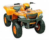 picture of four-wheeler  - Sports quad bike isolated on a light background - JPG