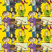 foto of bitchy  - Seamless pattern of comedic business Seamless pattern of comedic business - JPG
