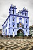 Igreja da misericórdia, azul igreja em Angra do heroísmo, ilha Terceira, Açores
