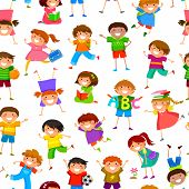cartoon kids pattern