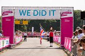 SOUTHAMPTON, UK - JULY 14: Town crier starts the annual women's Race for Life to raise money for Can