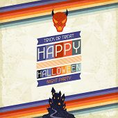 Happy Halloween grungy retro background.