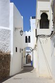 foto of asilah  - Narrow street in the medina of Asilah Morocco - JPG