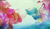 Acrylic colors in water. Abstract textured background.