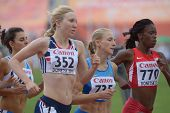 DONETSK, UKRAINE - JULY 11: Girls compete in 800 m during 8th IAAF World Youth Championships in Done