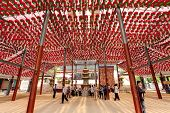 SEOUL KOREA MAY 11:People visiting the Bongeun-sa Temple which decorated by a lot of red lanterns fo
