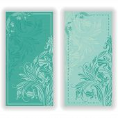 image of damask  - Template design for invitation with damask ornaments - JPG