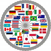 Flags Of Countries Of The Tour De France 2013.eps