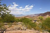 A View Of Lake Meade And Surrounding Landscape Nevada.