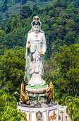 the monastery Wat Bang Riang, Province of Phang Nga. Statue of the Goddess of Mercy Guanyin