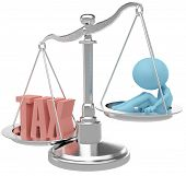 Person suffer weight of unfair heavy tax burden