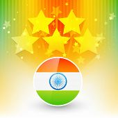 vector indian flag design with space for your text