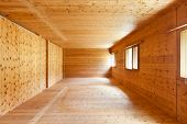stock photo of chalet interior  - new apartment - JPG