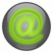 Email Button - Green On Grey
