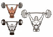 Bodybuilder with barbell
