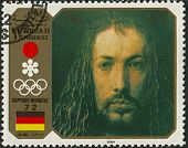 SHARJAH - CIRCA 1972: A stamp printed in  Sharjah shows image of the Albrecht Durer was a German pai