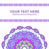 Vintage violet invitation card