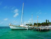 Yacht at Caye Caulker, Belize