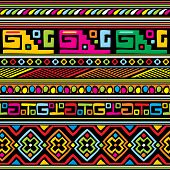 African pattern color