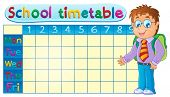 School timetable theme image 1 - eps10 vector illustration.