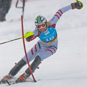 PATSCHERKOFEL, AUSTRIA - JANUARY 21 Mathias Elmar Graf (Austria) places third in the men's slalom on