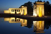 stock photo of isis  - Debod Egyptian Temple located in Madrid Spain - JPG
